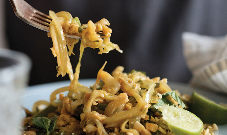 Better Than Takeout: Lightened-Up Pad Thai In Under 15 Minutes Hero Image