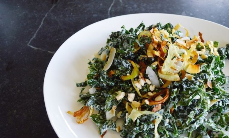 Shredded Coconut Kale Salad Hero Image