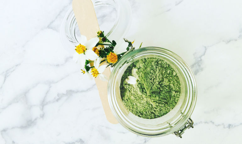 How To Make A Green Tea Face Mask With This Healing Super Powder Hero Image