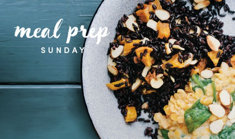 Meal Prep Sunday: Black Rice + Coconut Red Lentils Hero Image