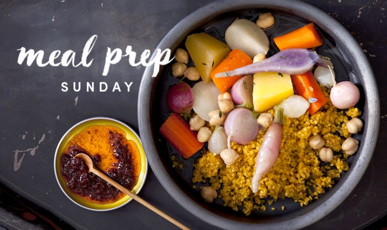 Meal Prep Sunday: A Moroccan Millet That Will Make Your Skin Glow + 5-Minute Tweaks For 4 Days Of New Meals Hero Image