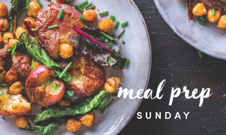 Meal Prep Sunday: A Smashed Potato + Chickpea Hash For Radiant Skin Hero Image