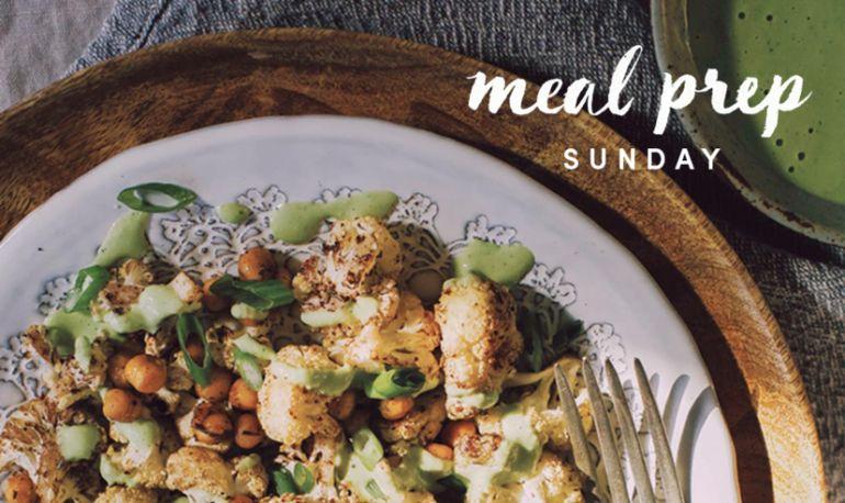 5 Days Of Healthy Meals: Anti-Inflammatory Cauliflower & Tahini Edition Hero Image