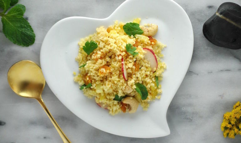 15-Minute Dinner: Moroccan-Spiced Couscous With Mint Hero Image
