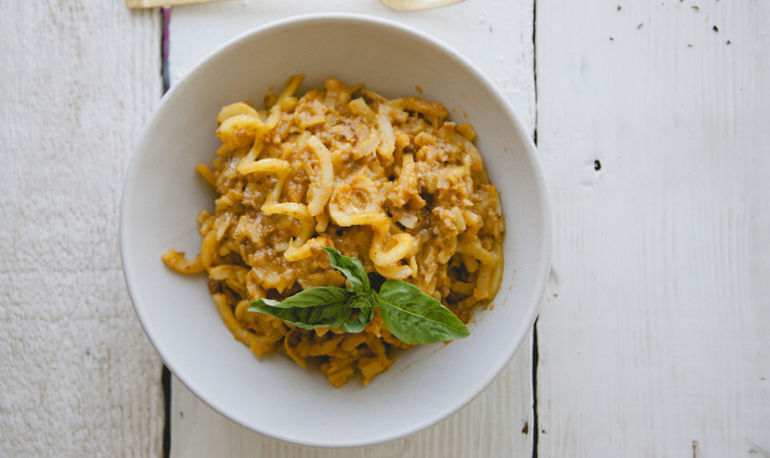 Sweet Potato Noodles With (Dairy-Free!) Bolognese Sauce Hero Image