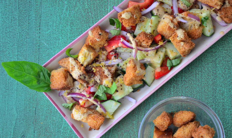 Shake Up Your Summer Salad Routine With Bell Pepper Panzanella Hero Image