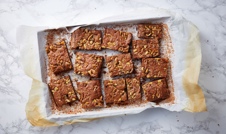 These Fudgy Peanut Butter Brownies Have A Protein-Packed Secret Hero Image