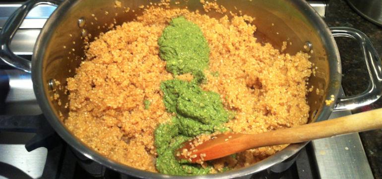 """Cheesy"" Pine Nut Pesto On Quinoa (A Vegan Delight!) Hero Image"