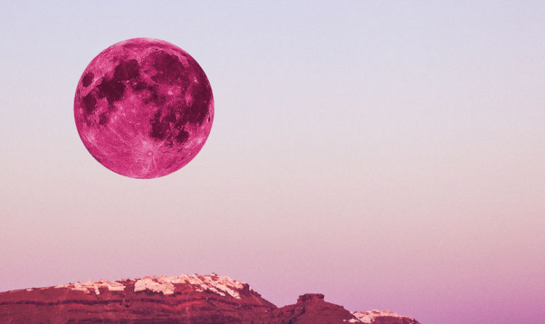 The Full Pink Moon In Libra Can Help You Manifest & Heal Relationships: 9 Ways To Tap Into Its Power Hero Image