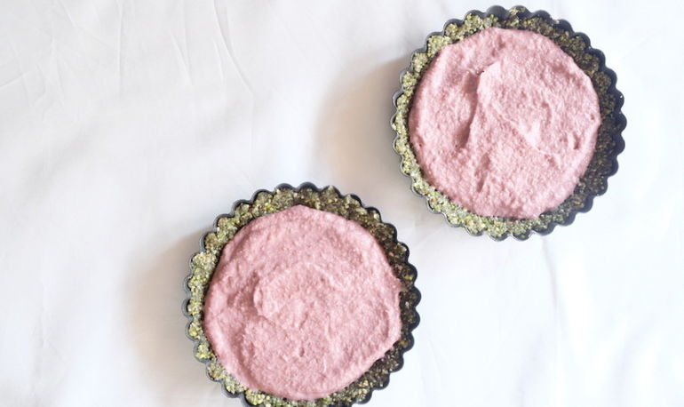 A Superfood-Packed Raspberry + Rose Tart Hero Image