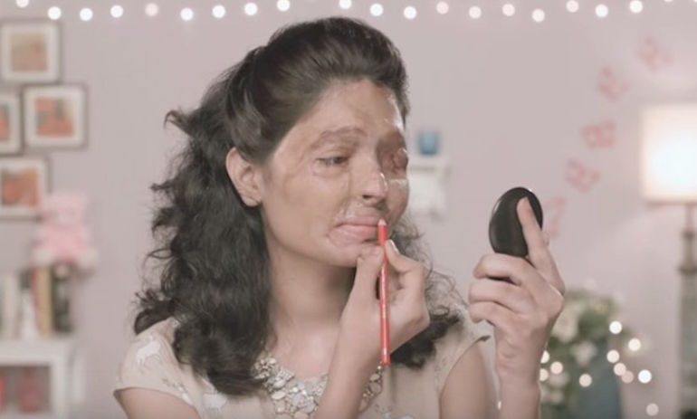 Watch What Happens When An Acid-Attack Survivor Gives A Beauty Tutorial Hero Image