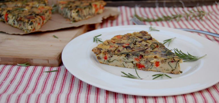 Vegan Rosemary Frittata Hero Image