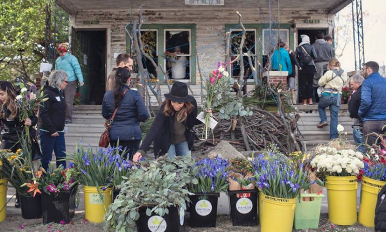 Florists Transform An Abandoned Detroit House Into Floral Art Hero Image