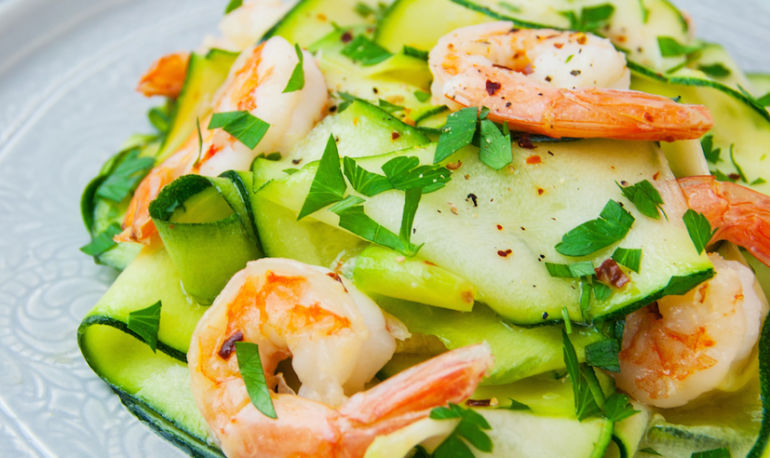 A Gut-Friendly Shrimp Scampi Recipe (With Zoodles!) Hero Image