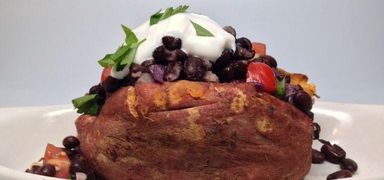 Southwestern-Style Stuffed Sweet Potatoes Hero Image