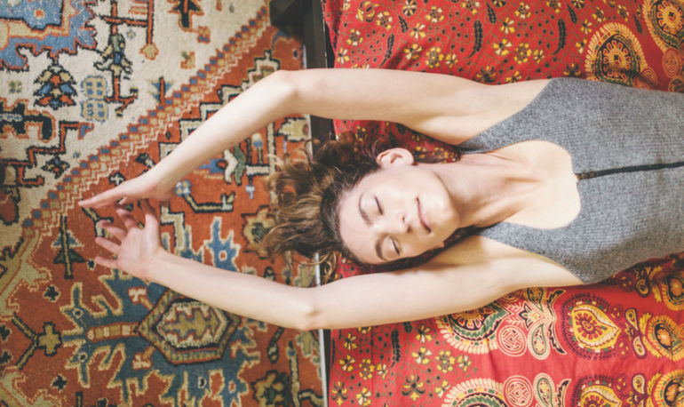 Got Insomnia? These 4 Simple Stretches Will Help Hero Image