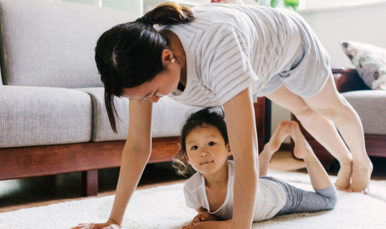 Your Guide To Making Time To Do Yoga When You're A Busy Parent Hero Image