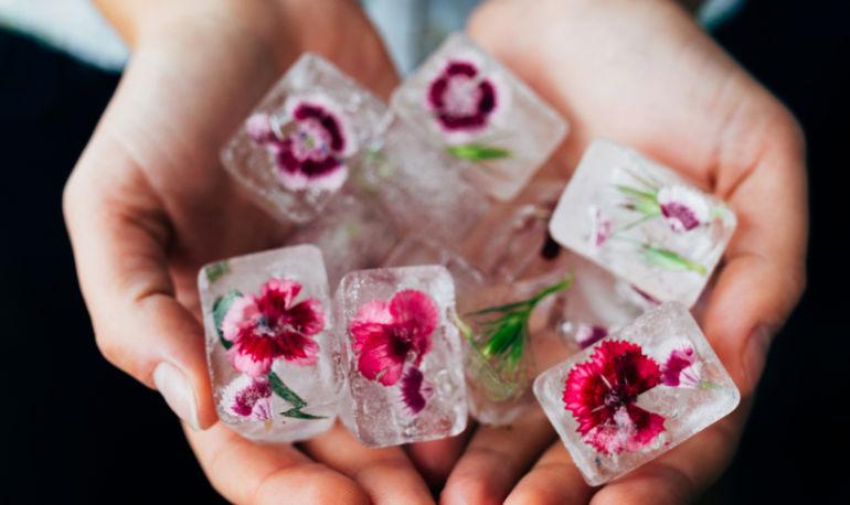 Rose-Infused Ice Cubes, An Icelandic Secret For Amazing Skin Hero Image