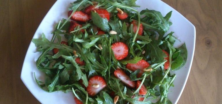 Sweet-N-Salty Strawberry Arugula Salad Hero Image