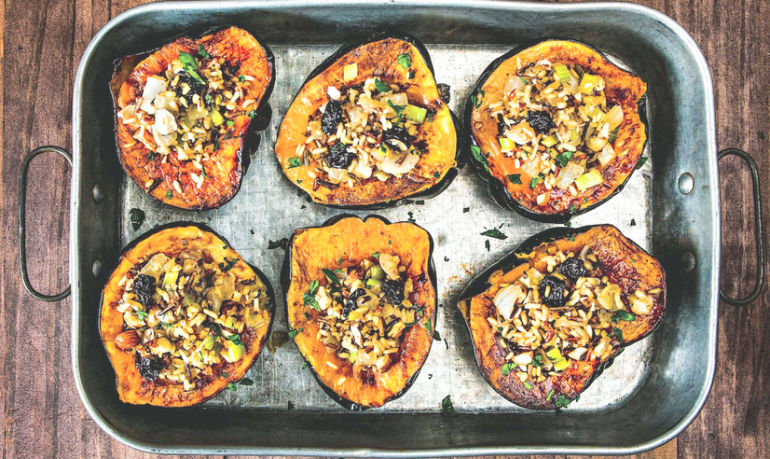 Your Thanksgiving Table Needs These Vegan Winter Squash Cups Hero Image