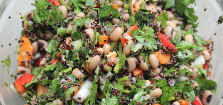 Protein-Packed Summer Salad Bowl (It's Vegan!) Hero Image