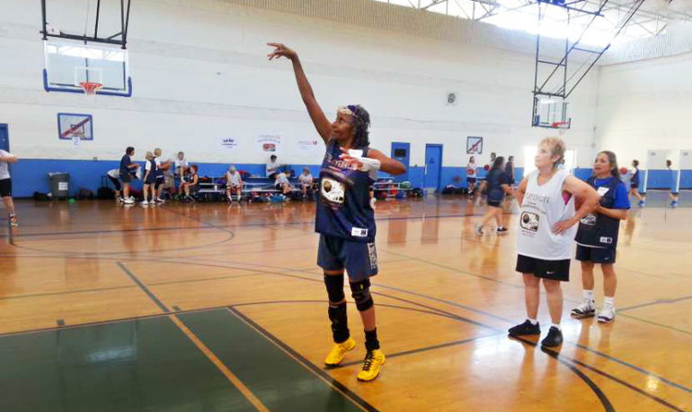 Everyone On This All-Female Basketball Team Is 80+ Hero Image