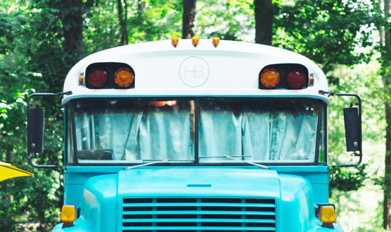 My Husband And I Live In A Converted School Bus—And We've Never Been Happier Hero Image