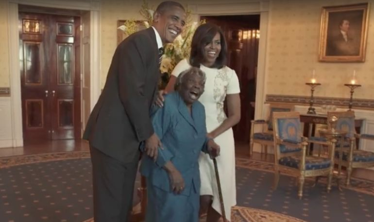 Watch This 106-Year-Old Woman Start A Dance Party With The Obamas Hero Image