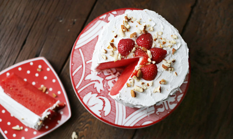 Watermelon Cake Is A Thing & It's Delicious: Here's How To Make It Hero Image