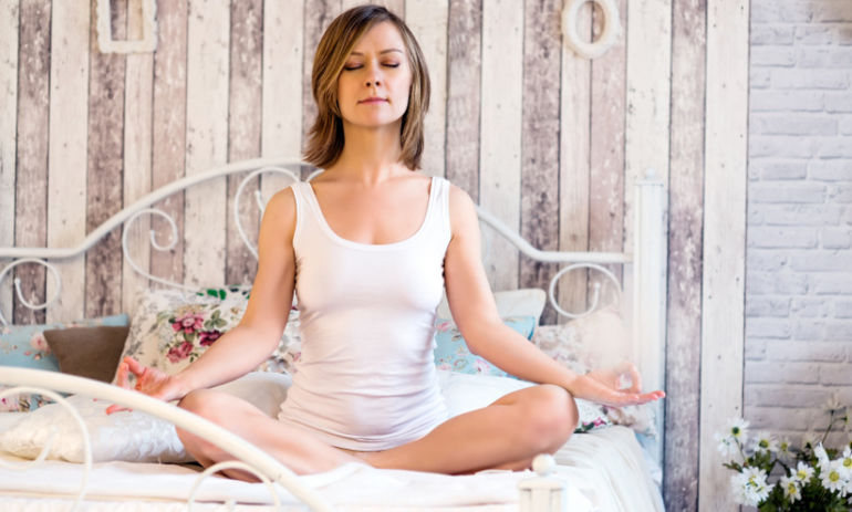 3 Yoga Poses For Blissful Sleep Hero Image