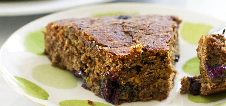 Blueberry-Zucchini Bread (Vegan & Gluten-Free!) Hero Image