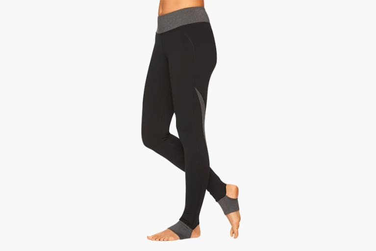 Gaiam Om Panel Stirrup Barre Yoga Leggings