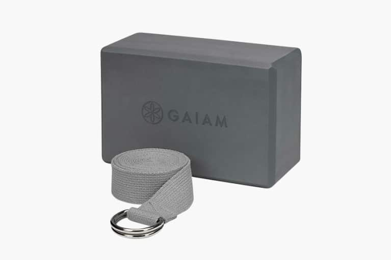 Gaiam Yoga Block & Strap Combo