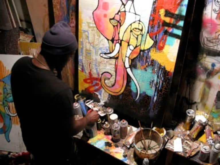 Q & A with Artist CAM: The Yoga Sessions Series, Meditation, Ganesh