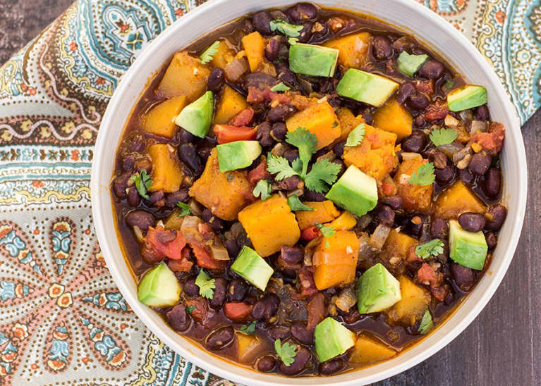 Winter Warmer: Butternut Squash + Black Bean Chili