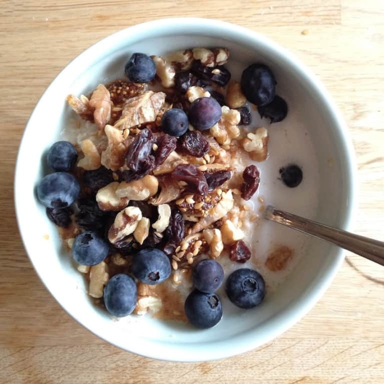 Fiber-Packed Oatmeal With Blueberry + Fig