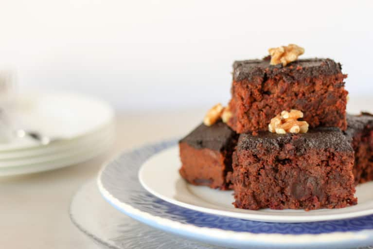 Chocolate Beet Fudge Brownies (Gluten-Free + Dairy-Free)