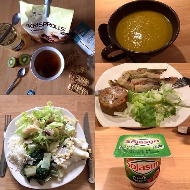 French girl 1-day meal plan