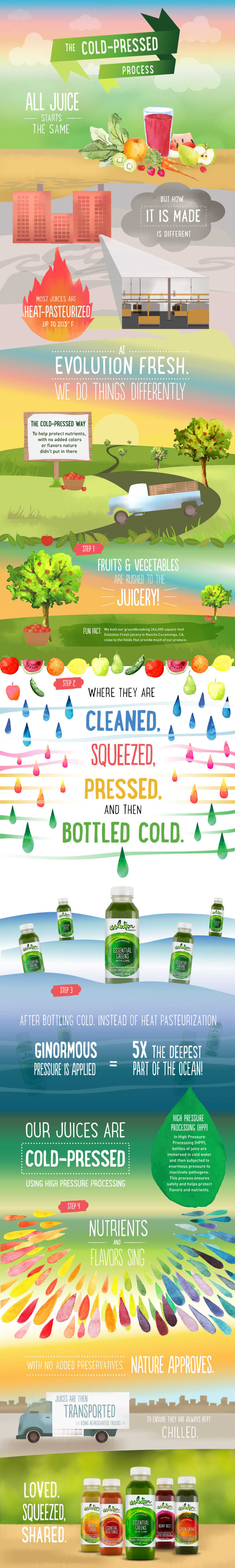 The Life Cycle Of A Cold-Pressed Juice (Infographic)
