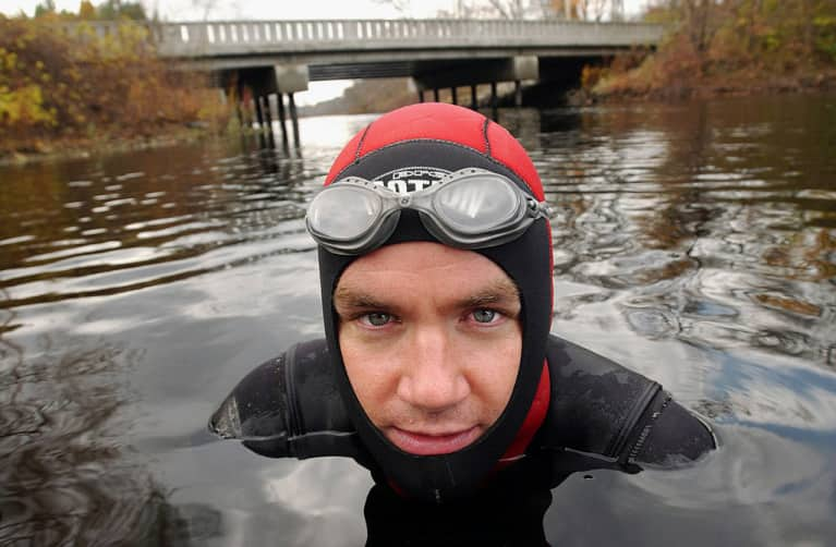 The Surprising Reason This Man Is Swimming Through Your Sewage