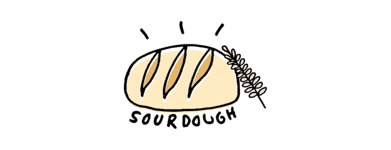 drawing of sourdough bread