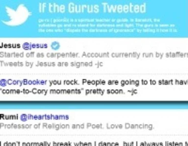 If Gurus Tweeted (Infographic)
