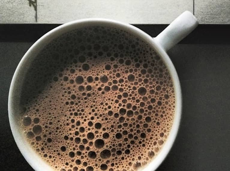 Superfood Hot Chocolate With Coconut Oil, Maca + Turmeric