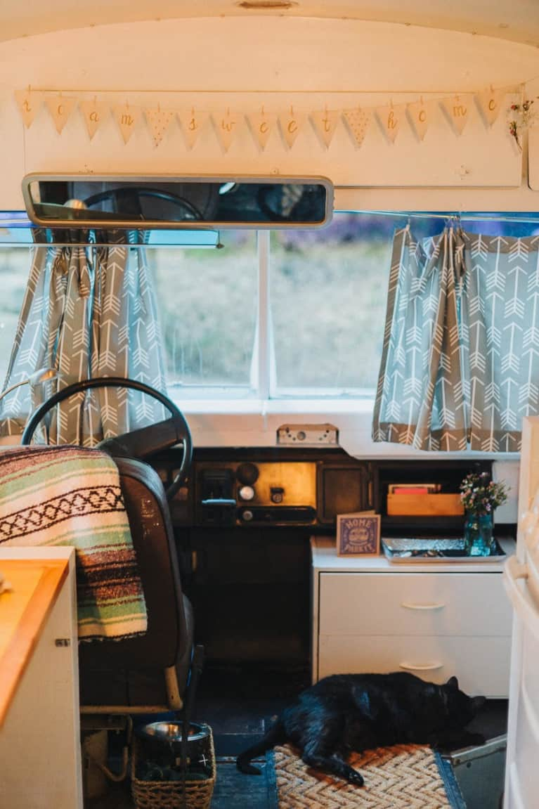 My Husband And I Live In A Converted School Bus—And We've Never Been Happier