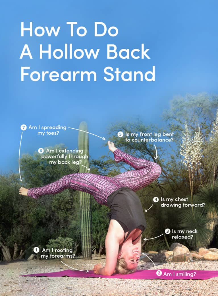 "8 Tips To Practice A ""Hollow Back"" Forearm Stand (Infographic)"