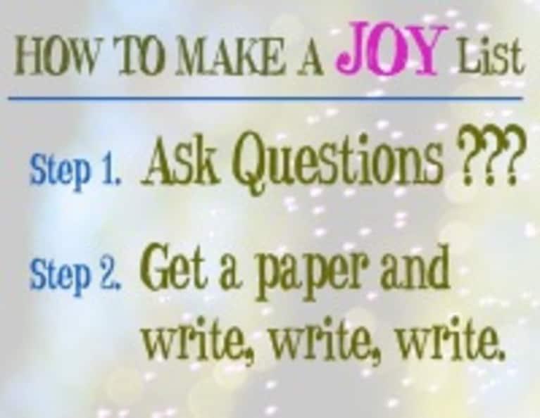 4 Steps to Create Your Joy List