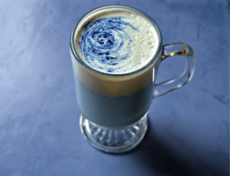This Mermaid Latte Gets Its Magical Color From An Ancient Herbal Tea