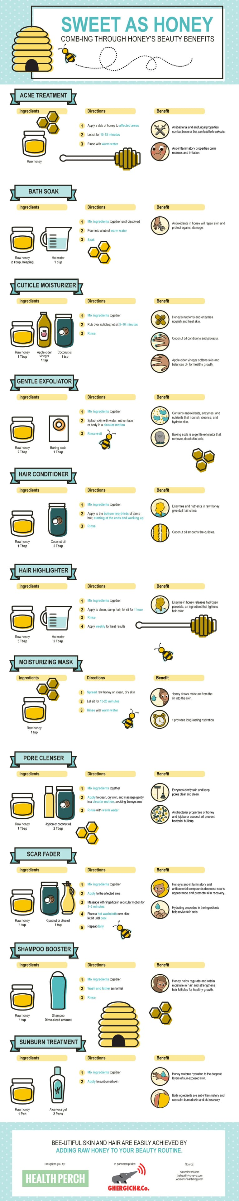11 DIY Ways To Use Honey For Gorgeous Skin, Hair & Nails (Infographic)