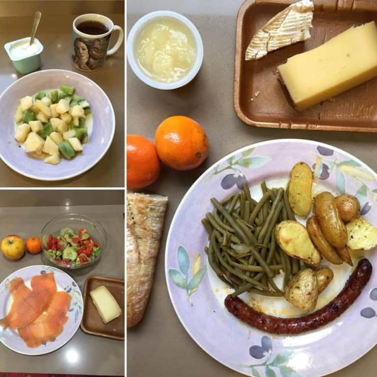 French woman sample meal plan