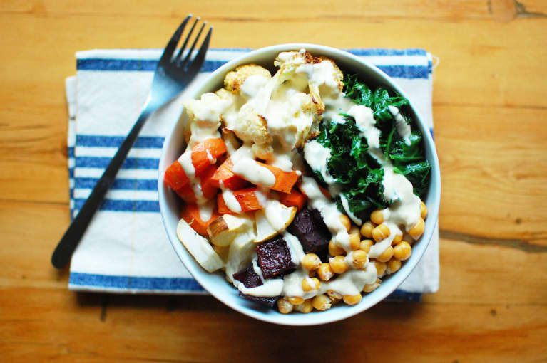 Roasted Root Vegetable Buddha Bowl (Vegan + Gluten-Free)
